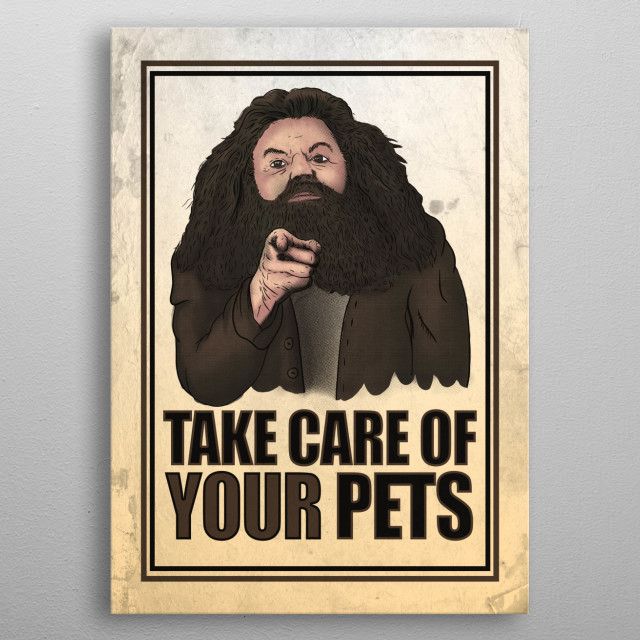 take care of your pets metal poster