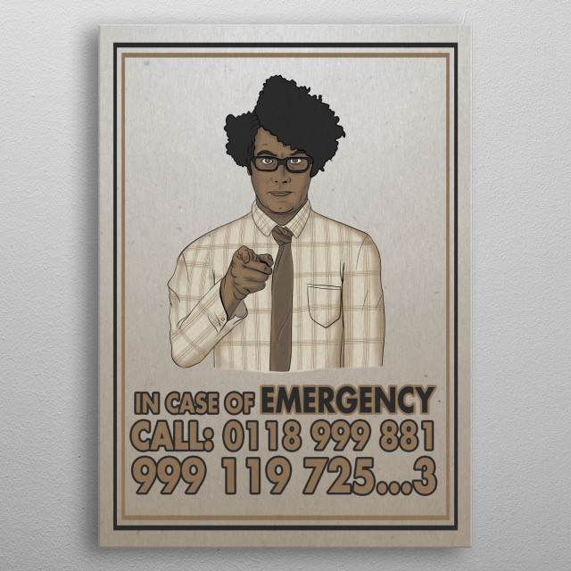 in case of emergency call 0118 999 881 999 119 725 3 metal poster
