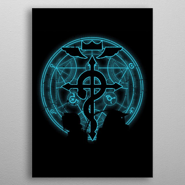 Shadow of alchemists metal poster