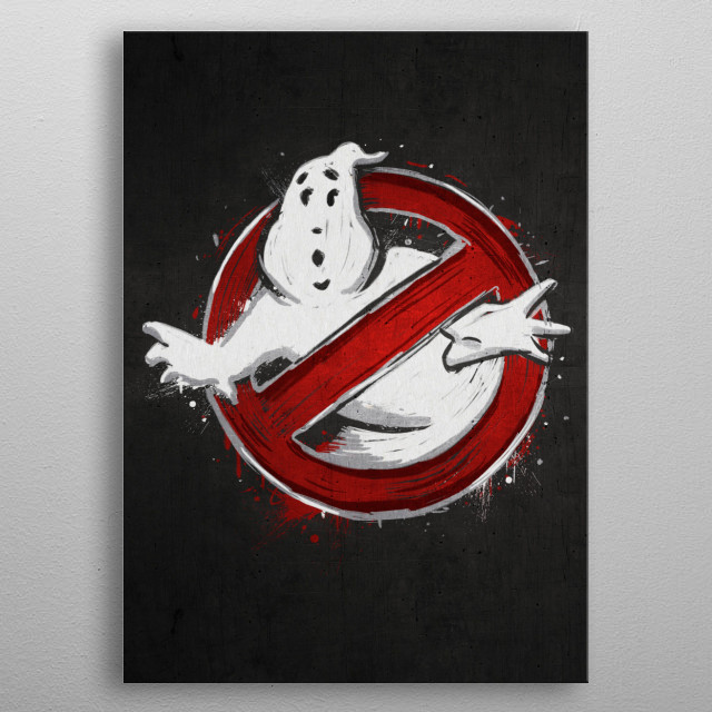 who you gonna call? metal poster