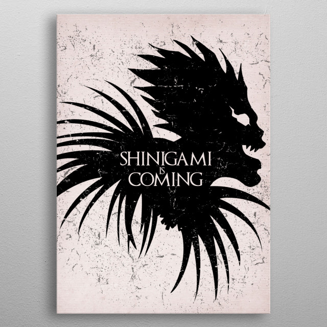 Shinigami is coming metal poster