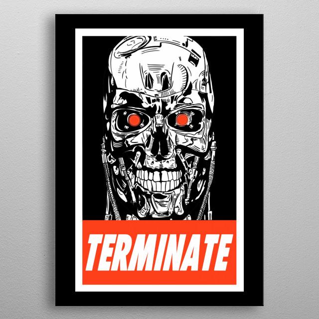 terminate metal poster