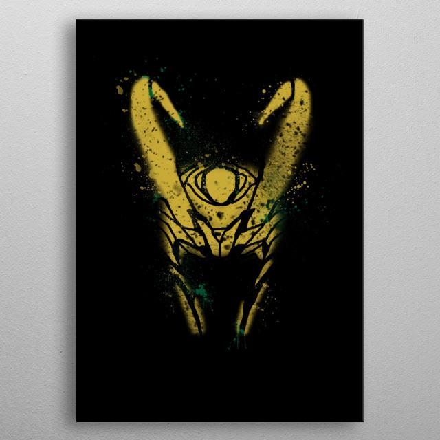 True god  metal poster
