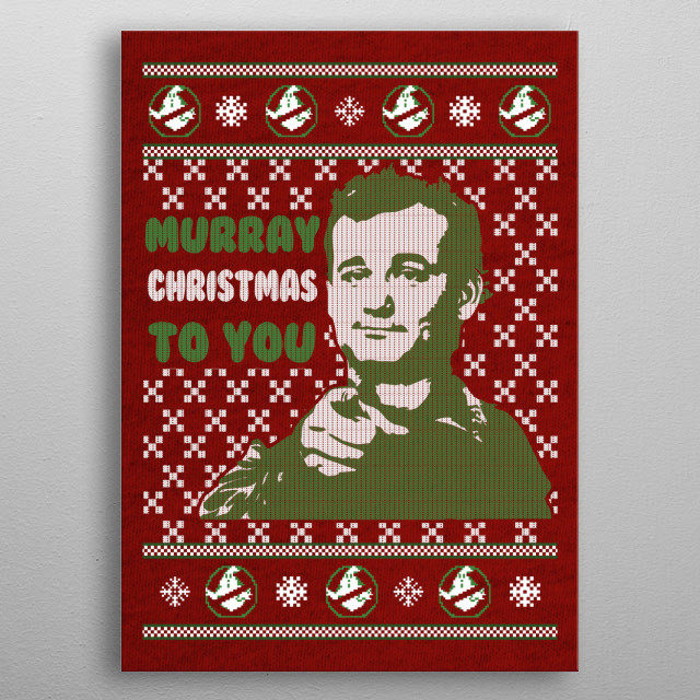 murray christmas to you metal poster