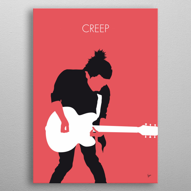 """No062 MY RADIOHEAD Minimal Music poster """"Creep"""" is a song by the English alternative rock band Radiohead. Radiohead released """"Creep"""" as their debut single in 1992, and it later appeared on their first album, Pablo Honey (1993). metal poster"""