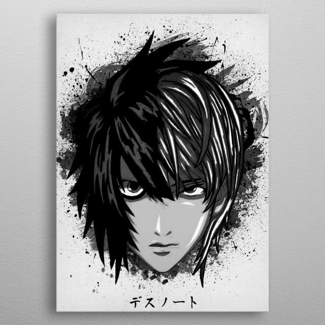 L vs Kira metal poster