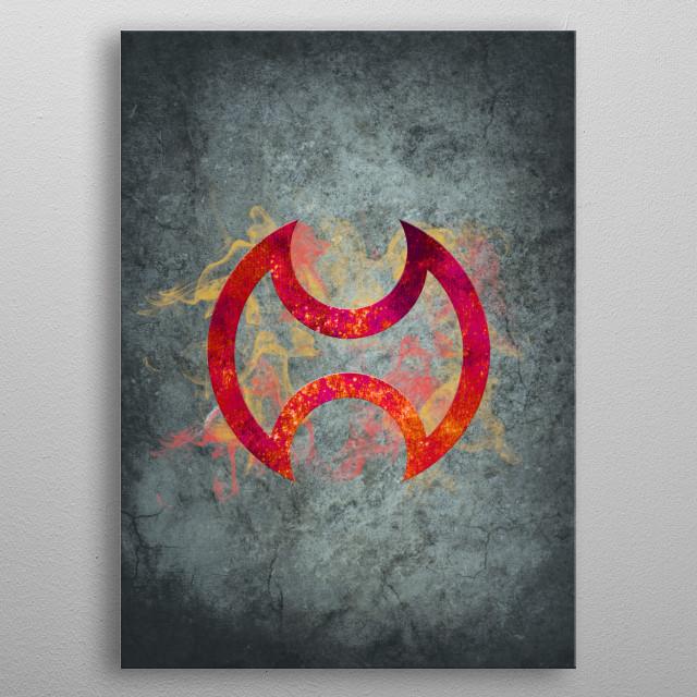Final Fantasy XIV - Warrior metal poster