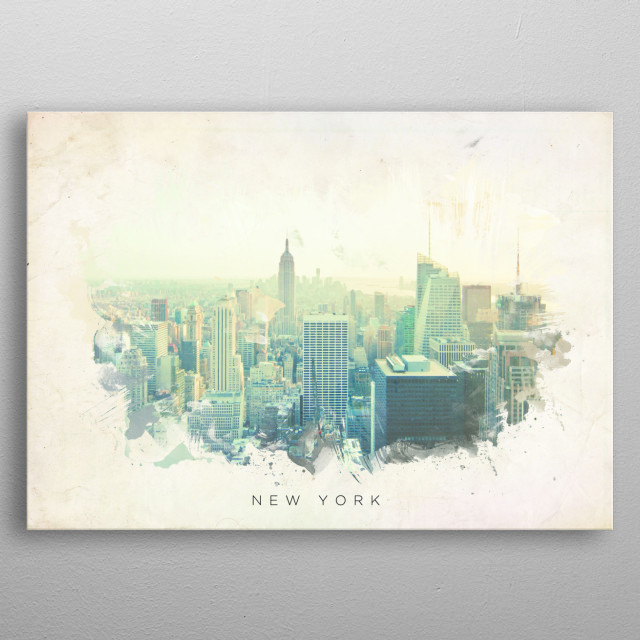 High-quality metal print from amazing Landscape Watercolors collection will bring unique style to your space and will show off your personality. metal poster