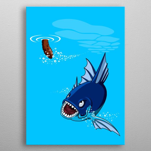 Fishing metal poster