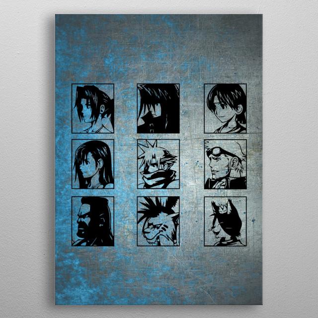 """""""Choose Your Hero"""" Final Fantasy 7 metal poster"""