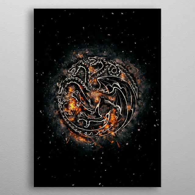 House Targaryen metal poster