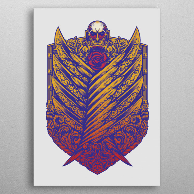 Titan Victoriana - Inspired by the Survey Corps shield from Attack on Titan metal poster