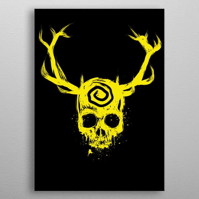 Yellow King metal poster