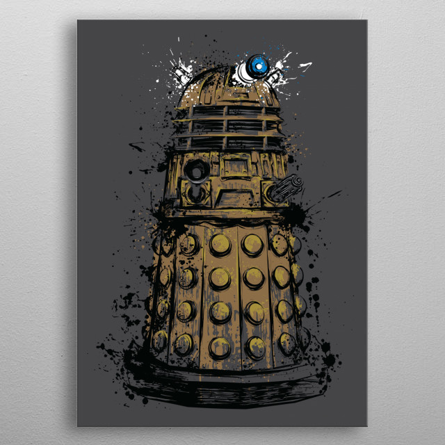 Exterminate metal poster