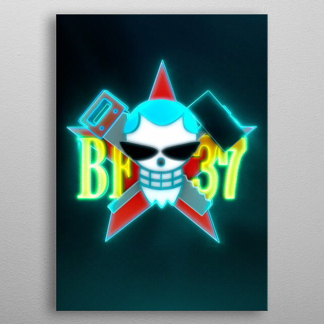 3D Franky Flag Emblem (modeling, post-production, edition & render in After Effects) metal poster