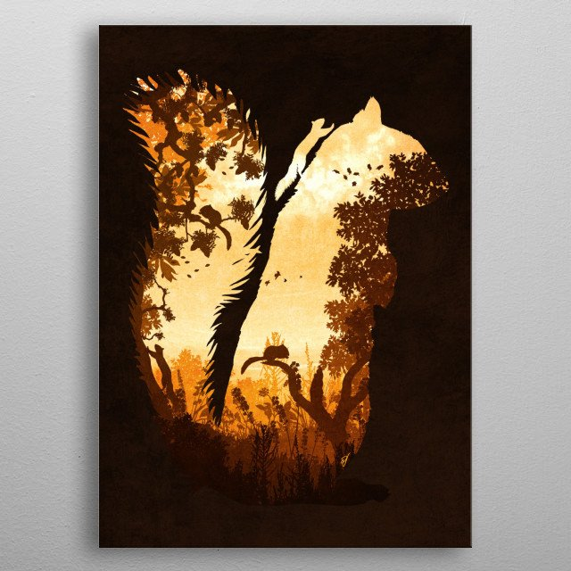 Fascinating metal poster designed by Diogo Verissimo. Displate has a unique signature and hologram on the back to add authenticity to each design. metal poster