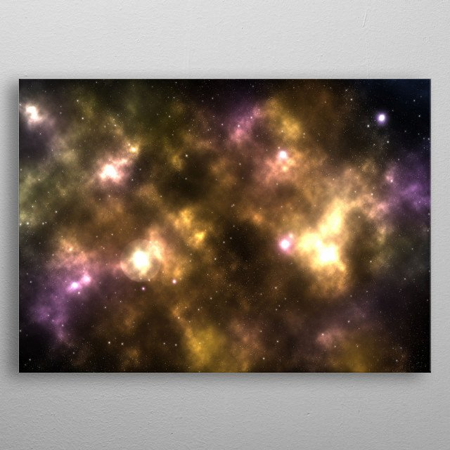 A star is born - Image created with a new star formation on the left. metal poster
