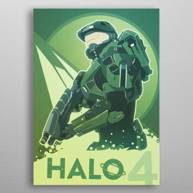 Fan made art for the FPS Halo 4. metal poster