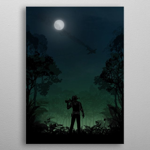 Uncharted metal poster