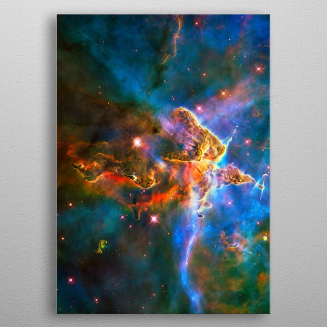 Digitally-enhanced version of an HST image of Mystic Mountain. JPL/ESA metal poster