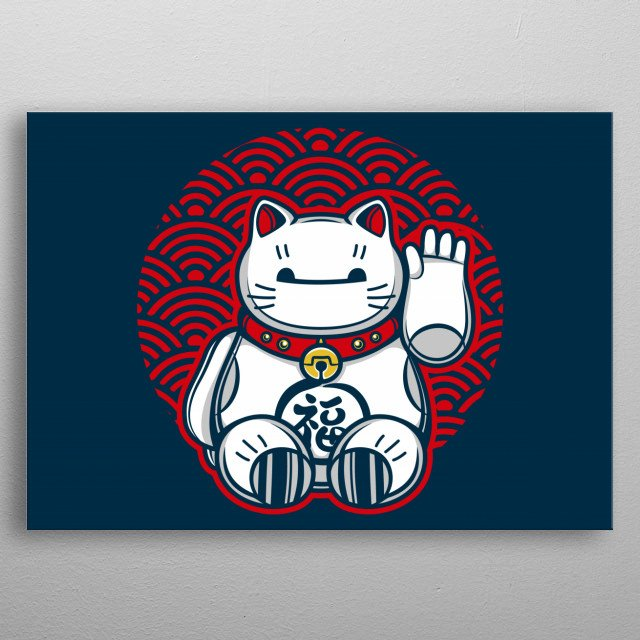 Baymax is your lucky assistant!  metal poster