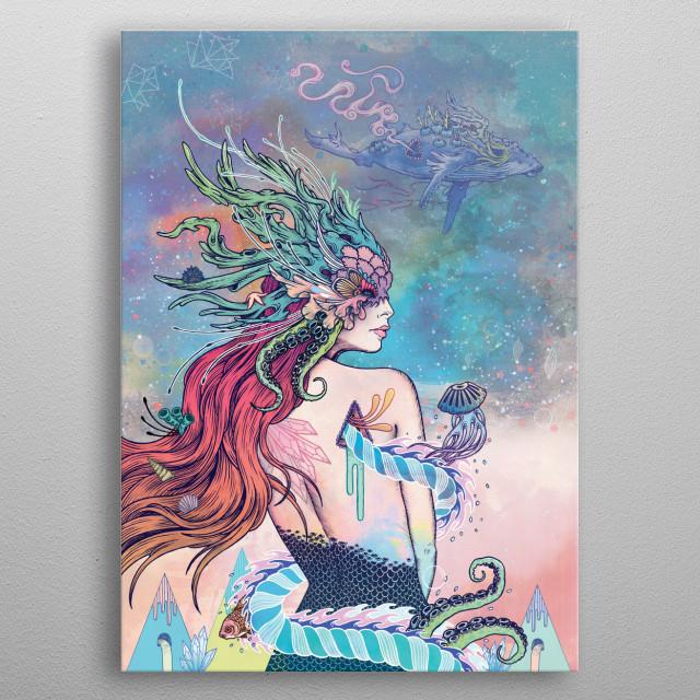 The Last Mermaid metal poster