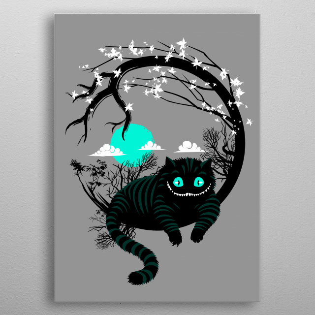 Wonderland circle metal poster