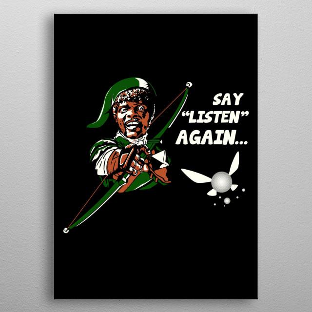 say listen again metal poster