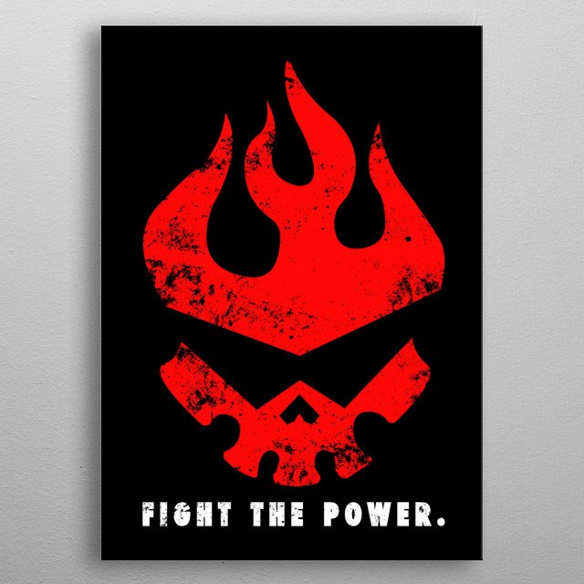- Fight the power - metal poster