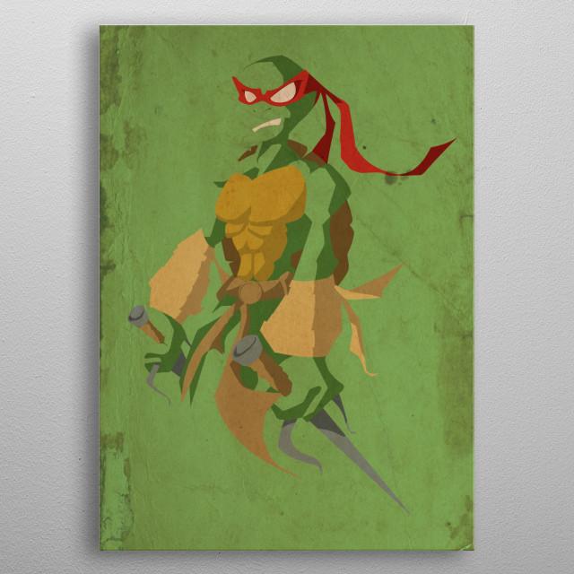 Ninja Turtles poster - by Shinoo - Raphael concept poster metal poster