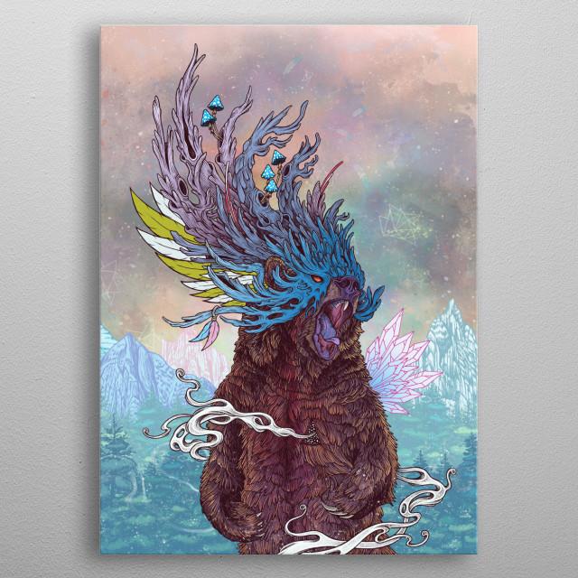 Journeying Spirit (Bear) metal poster