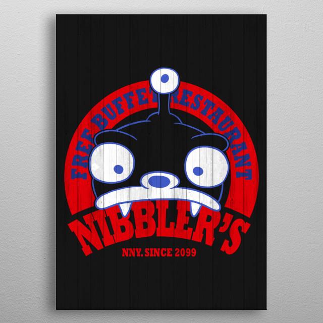 nibblers free buffet restaurant metal poster