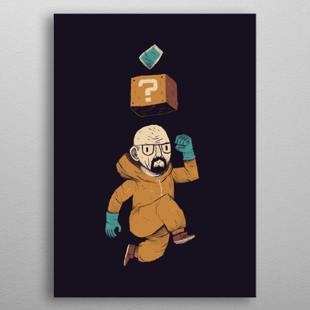 walter white power up! metal poster