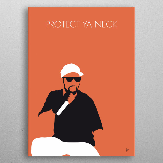 """No073 MY WuTangClan Minimal Music poster """"Protect Ya Neck"""" is the debut single by hip hop group Wu-Tang Clan. The song is from the group's critically acclaimed first album Enter the Wu-Tang. metal poster"""