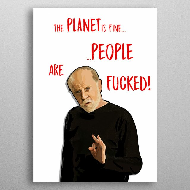 Digital Portrait of George Carlin, the undisputed King of stand-up comedy... metal poster