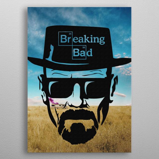 Heisenberg metal poster