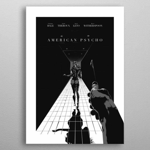 American Psycho - Altarnative movie poster / noir style... metal poster