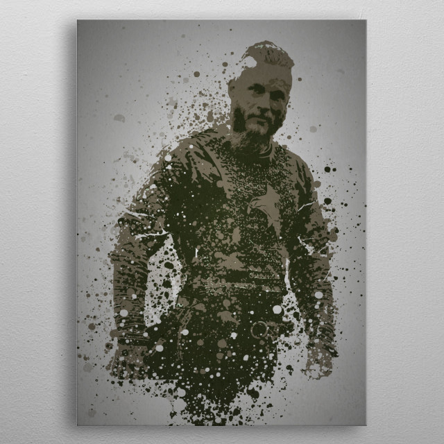 Viking Splatter effect artwork inspired by Ragnar Lot .... metal poster