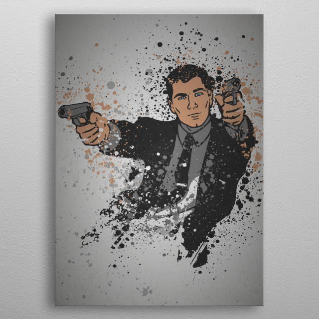 Danger Zone Splatter effect artwork inspired by the TV show Archer. metal poster
