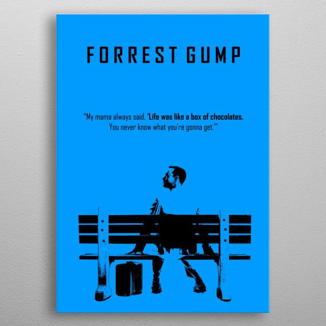 Forrest gump minimalist poster metal poster