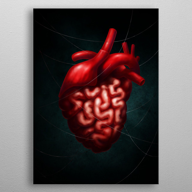 """""""Synthesis"""" Rest your mind in your heart. metal poster"""