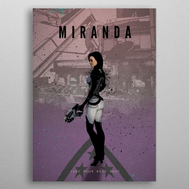 Legends of Gaming - Miranda metal poster