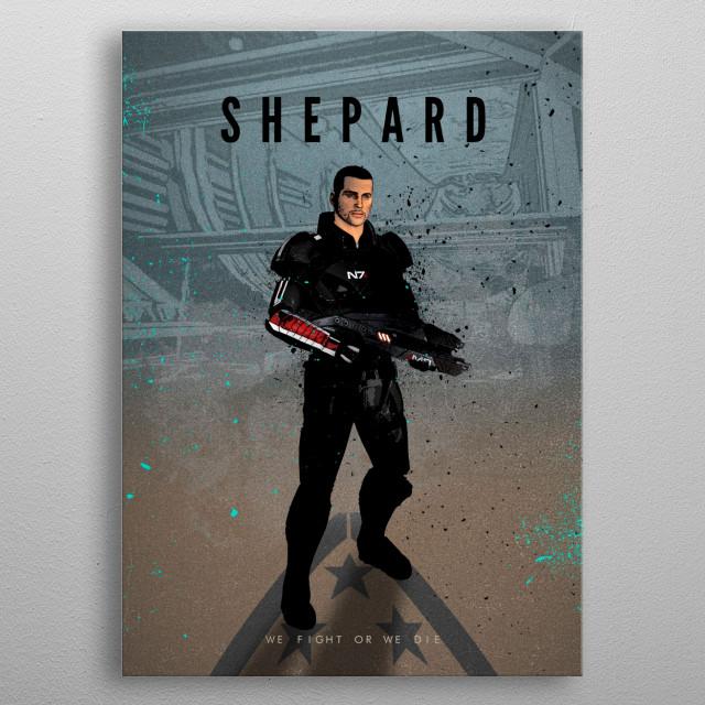 Legends of Gaming - Shepard metal poster