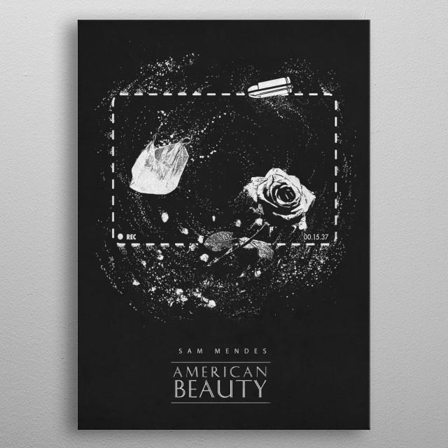 American Beauty metal poster