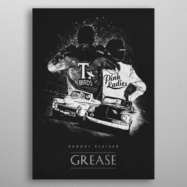Grease metal poster