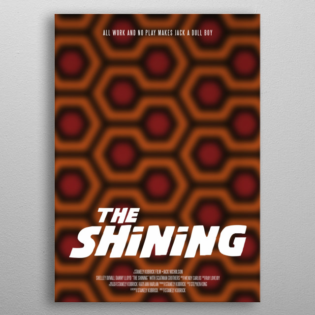 The Shining by Stanley Kubrick metal poster