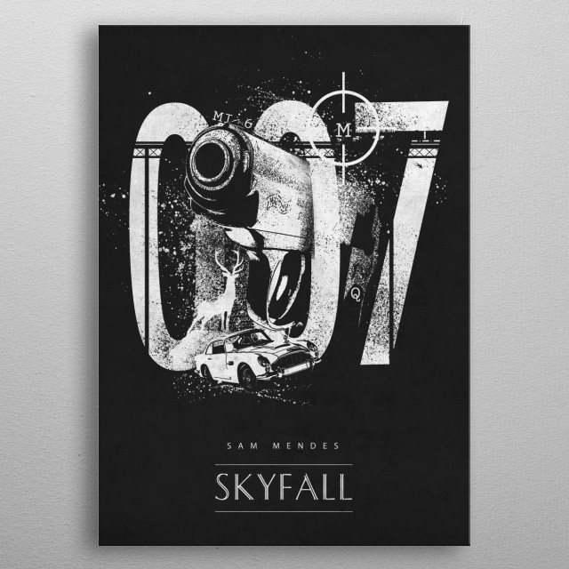 Skyfall metal poster