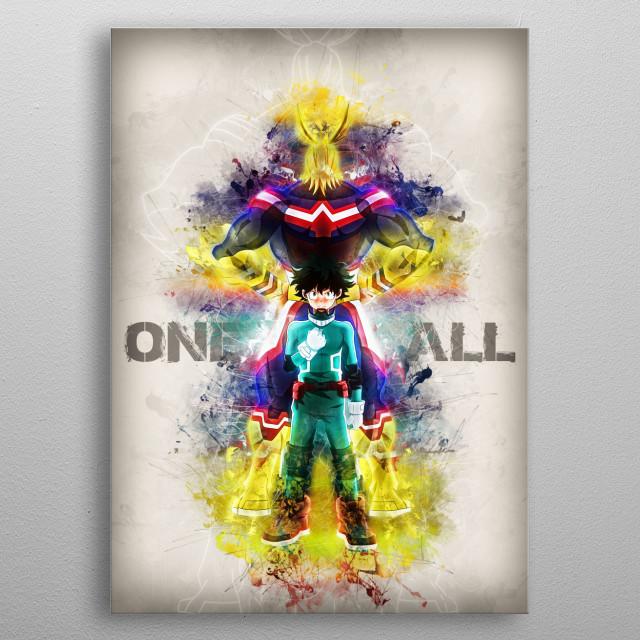 Hero Academy Fanart  metal poster