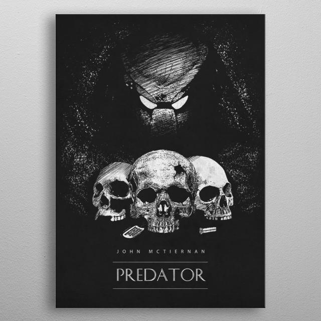 Predator metal poster