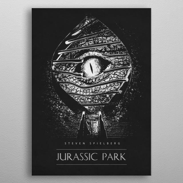 Jurassic Park metal poster